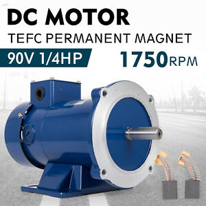 Dc Motor 1 4hp 56c Frame 90v 1750rpm Tefc Magnet Generally 2 6a Permanent Newest