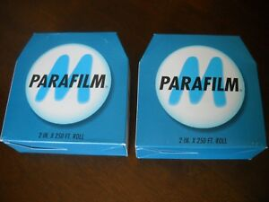 Two Boxes Bemis Parafilm M Laboratory Wrapping Film 2 Inch X 250 Feet Pm 992