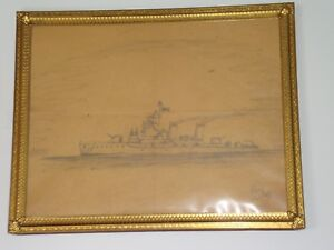 Us Navy Destroyer Crewman Folk Art Ship Drawing