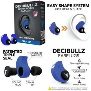 Custom Molded Ear Plugs Hearing Loud Noise Protection For Shooting Travel Sleep