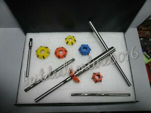 Valve Seat Cutter Kit Carbide Tipped 45 70 Deg Cutrs With Stem Hss Remr Tool