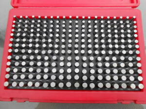 Mhc Pin Gage Set 251 500 In 001 Increments Minus 250 Pieces Used