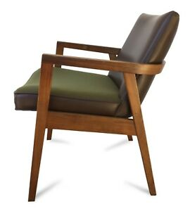Vintage Gunlocke Armchair Lounge Chair Classic Mid Century Modern Style