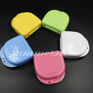 Dental Retainer Orthodontic Mouthguard Denture Storage Case Box Container Colors