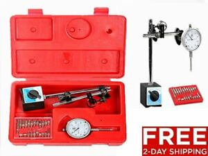 22point Set 1 Dial Test Indicator Magnetic Mounting Base Stand Fine Adjusted He