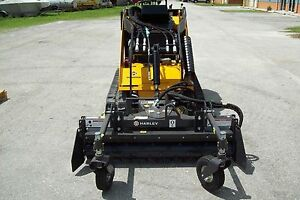 Harley Mini Landscape Rake D4h fits Mini Skid Steer Loaders w hydraulic Angle