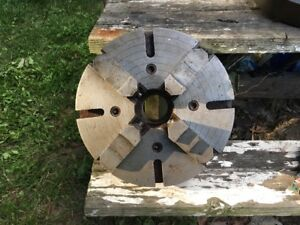 Union Mfg Co 12 4 jaw Independent Lathe Chuck 2 1 4 x8tpi South Bend