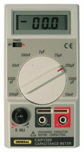 General Tools Cap1500 Digital Wide Range Capacitor Tester With Alligator Leads