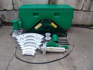 Greenlee 885 Hydraulic Bender 1 1 4 To 5 Electric 960 Pump Works Great