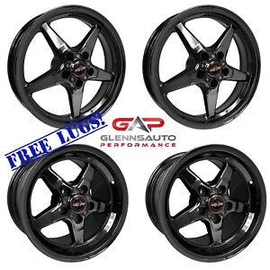 Race Star Drag Pack 15x10 17x4 5 For 05 14 Mustang Black Chrome 4 Wheel Kit