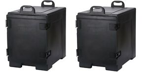 2 Pack Insulated Food Full Size Pan Commercial Catering Box Chafing Dish Carrier