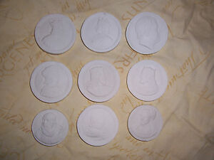 9 Gentlemen Portraits Grand Tour Cameos Intaglio Seals Gems Medallion