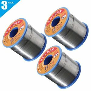 3 X400g 0 8mm 60 40 Tin Lead Solder Wire Rosin Core Soldering 2 flux Reel Tube H