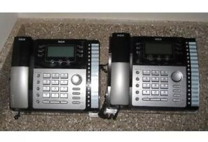 Rca 25424re1 a Visys 4 Line Business Phone Desk Telephone Lot Of 2