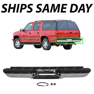 New Chrome Steel Rear Bumper Direct Fit For 1992 2000 Chevy Suburban