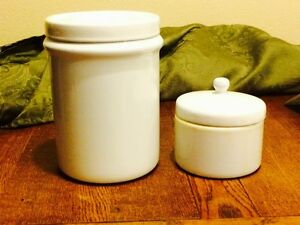 2 Antique Metal Medical Storage Containers For Doctors Nurses With Lids