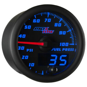 Used Maxtow Black Blue 100 Psi Fuel Pressure Gauge With Electronic Sensor