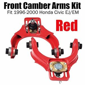 Red Adjustable Steel Front Camber Kits Fit 96 00 Honda Civic Latest Technology