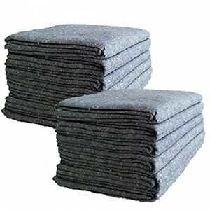 Textile Moving Blankets 12 Pack Professional Quality Skins 54 72 Pads Grey