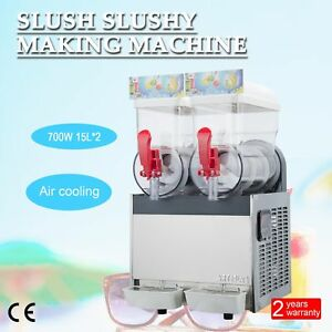 2 X 15l 700w Slushy Machine Slush Making Machine Frozen Drink Smoothie Maker
