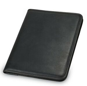 Portfolio Binder Leather Professional Folder Business Notepad Document Holder