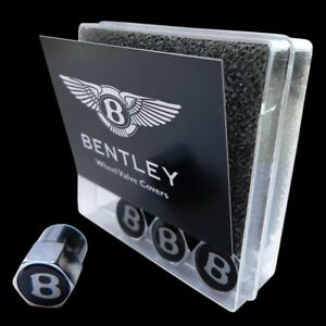 Brand New Bentley Genuine Black Wheel Tire Valve Cap Kit Oem 3w0601367