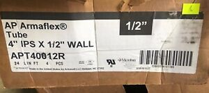 Ap Armaflex Tube 4 Ips X 1 2 Wall Apt40012r 4pcs