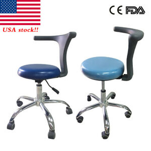 Pu Adjustable Mobile Dental Assistant Stools Medical Chair Pu Leather 2color Ilw