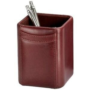 Mocha Leather Pencil Cup