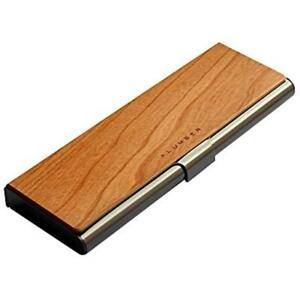 lumber By Hacoa Pl074 Pen Case Stainless Case With An Accent Of Precious Wood