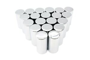 33mm Lug Nut Covers Chrome Push On Style Plastic 20 Tall Cylinder