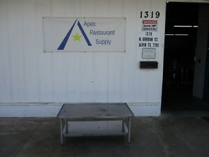 All Stainless 46 X 26 Equipment Stand W shelf Commercial 3527