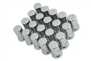 33mm Lug Nut Covers Chrome Screw On Style Plastic 20 Tube Style