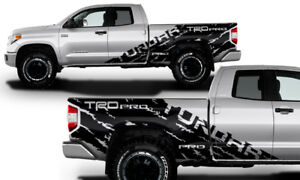 Vinyl Decal Wrap Trd Pro Shred For 2014 17 Toyota Tundra Truck Double Cab Black