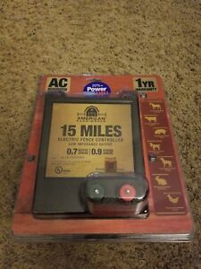 American Farm Works 15 Mile Ac Low Impedance Electric Fence Controller