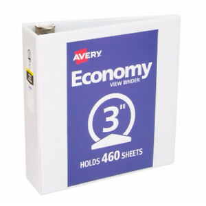 New Avery 3 White Economy View Round Ring Binders 12pk 05800