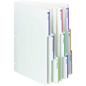 Viewables Three ring Binder Index Dividers 1 3 cut Tab Letter Size White 75