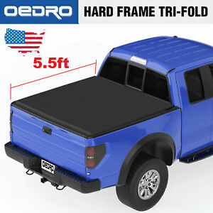 Oedro Tri fold Truck Bed Tonneau Cover For 2009 2014 Ford F 150 5 5 Bed