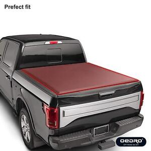Oedro Tri fold Truck Bed Tonneau Cover For 2014 2018 Toyota Tundra 5 5 Bed