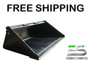 Es New 84 Smooth Bucket For Skid Steer Quick Attach Loader Free Shipping