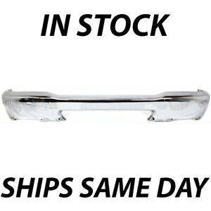 New Chrome Steel Front Bumper Bar For 1998 2000 Ford Ranger 2wd 4wd W Holes
