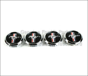 New Oem Set Of 4 Wheel Center Caps Covers W pony Logo 2008 2012 Ford Mustang