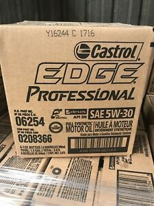 Vw Recommended 5w 30 Castrol Edge Professional Synthetic Motor Oil Case Of 6 New
