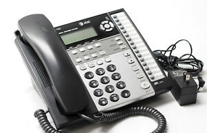At t 1080 4 line Corded Small Business System Office Phone With Ac Charger