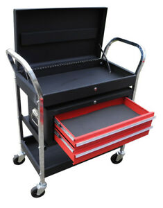 Redline Rerc1 Roll Cart Mechanics Removable Ball Bearing Tool Box Rolling