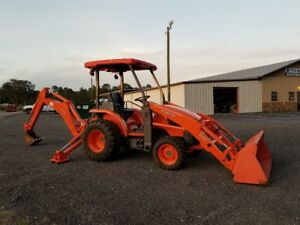 Kubota L39 Tractor Loader Backhoe 4x4 Diesel Shuttle Shift Rops W 768 Hours