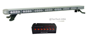 50 Led Amber Light Bar Tow Truck Plow Roll Back Police W Take Down