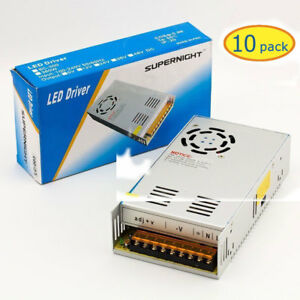 10x Dc 12v 30a Switching Regulated Power Supply For 3528 5050 Led Strip Light