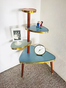 Plant Stand Side Table Mid Century Atomic Space Age Vintage Table Formica