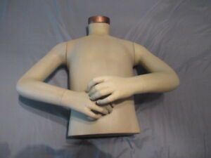 Vintage Greneker Mannequin Torso Arms Poseable Teen Kid Nice Shape From Disney